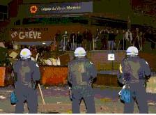 CVM - grève étudiante - anti-émeute